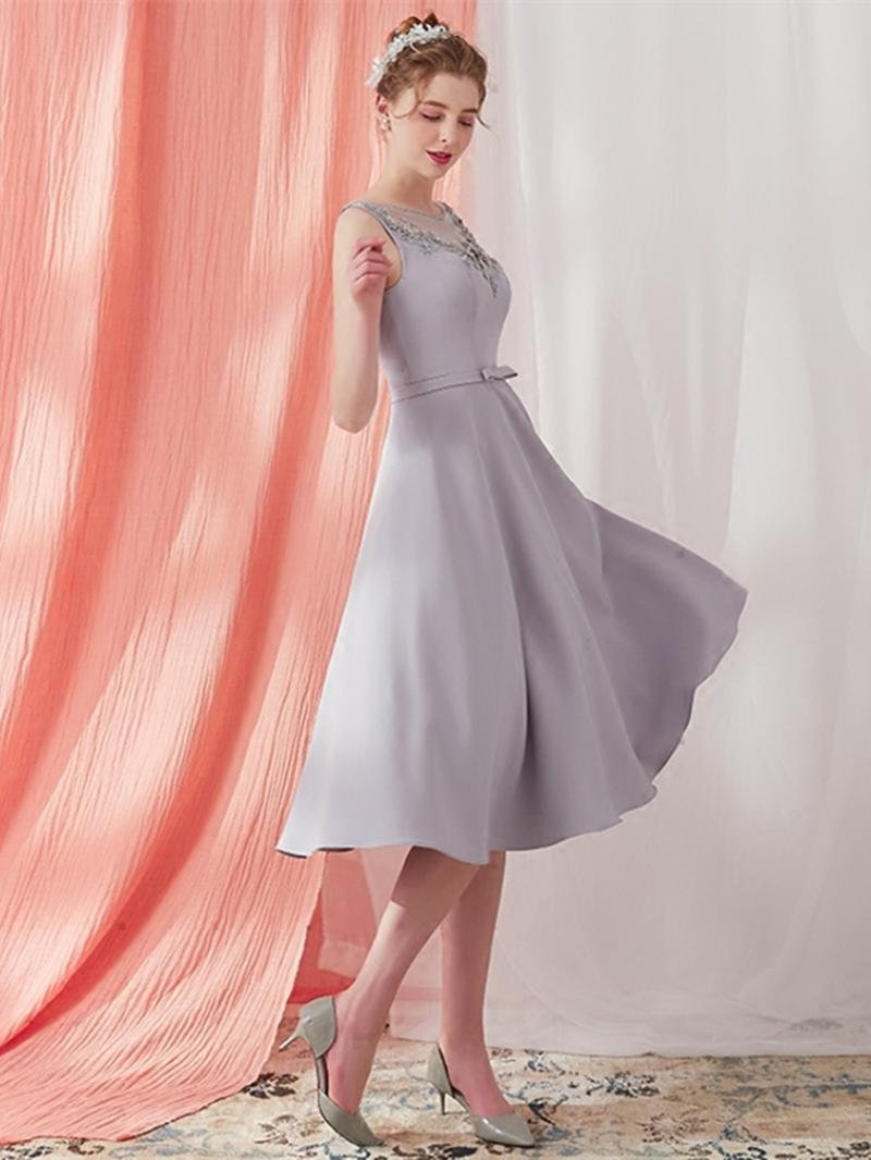 Ericdress A Line Tea Length Prom Dress With Beadings