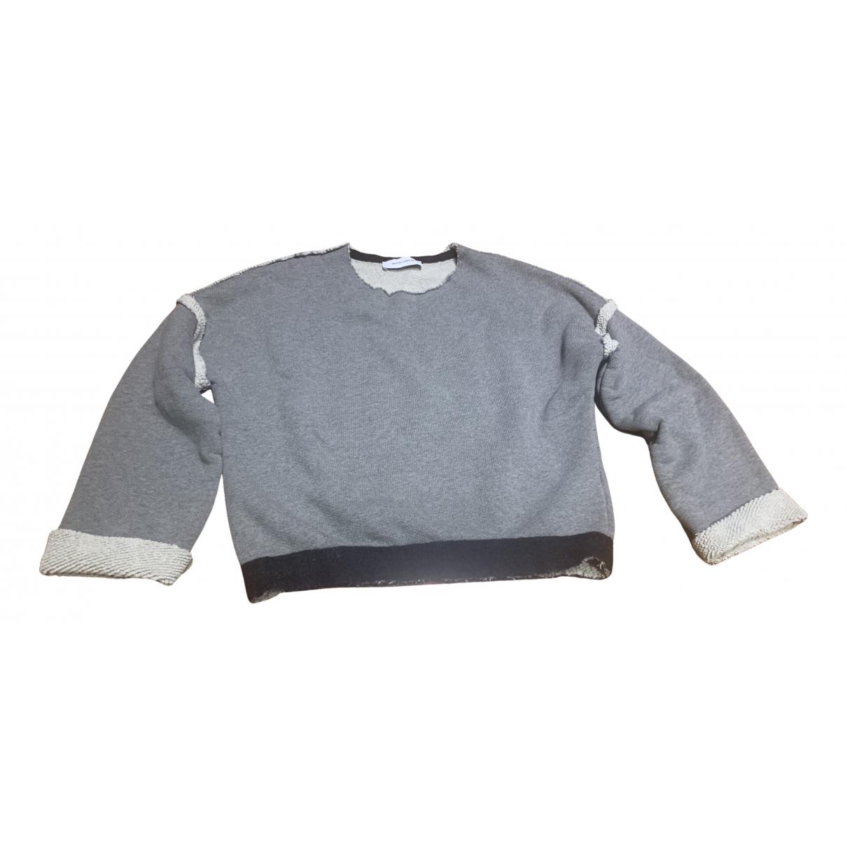 Mauro Grifoni N Grey Cotton Knitwear for Women 42 IT