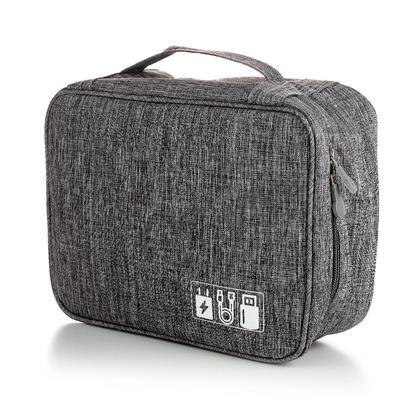 Portable Travel Digital Electronics Accessories Storage Organizer Bag, Blue - LIVINGbasics™
