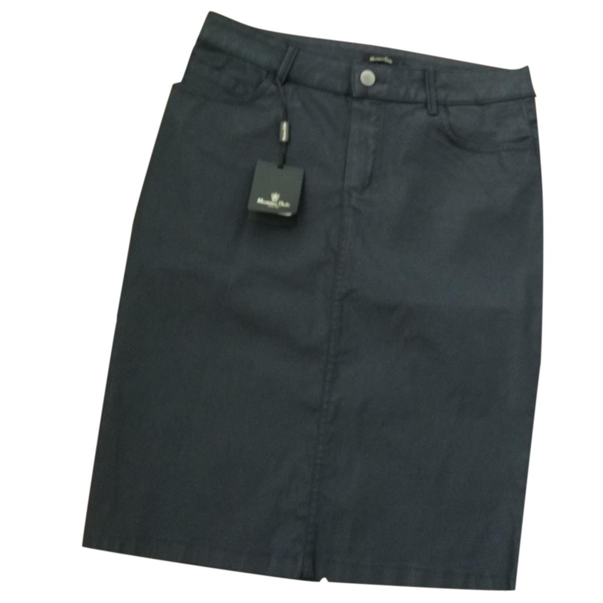 Massimo Dutti N Blue Cotton - elasthane skirt for Women 40 FR