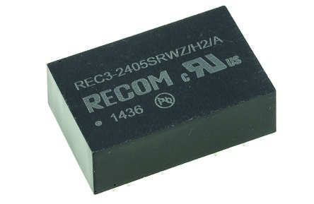 Recom REC3 3W Isolated DC-DC Converter Through Hole, Voltage in 9 → 36 V dc, Voltage out 5V dc Medical Approved