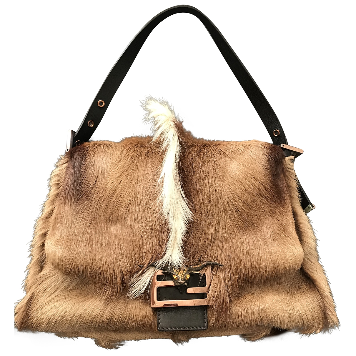 Fendi Mamma Baguette  Brown Shearling handbag for Women \N