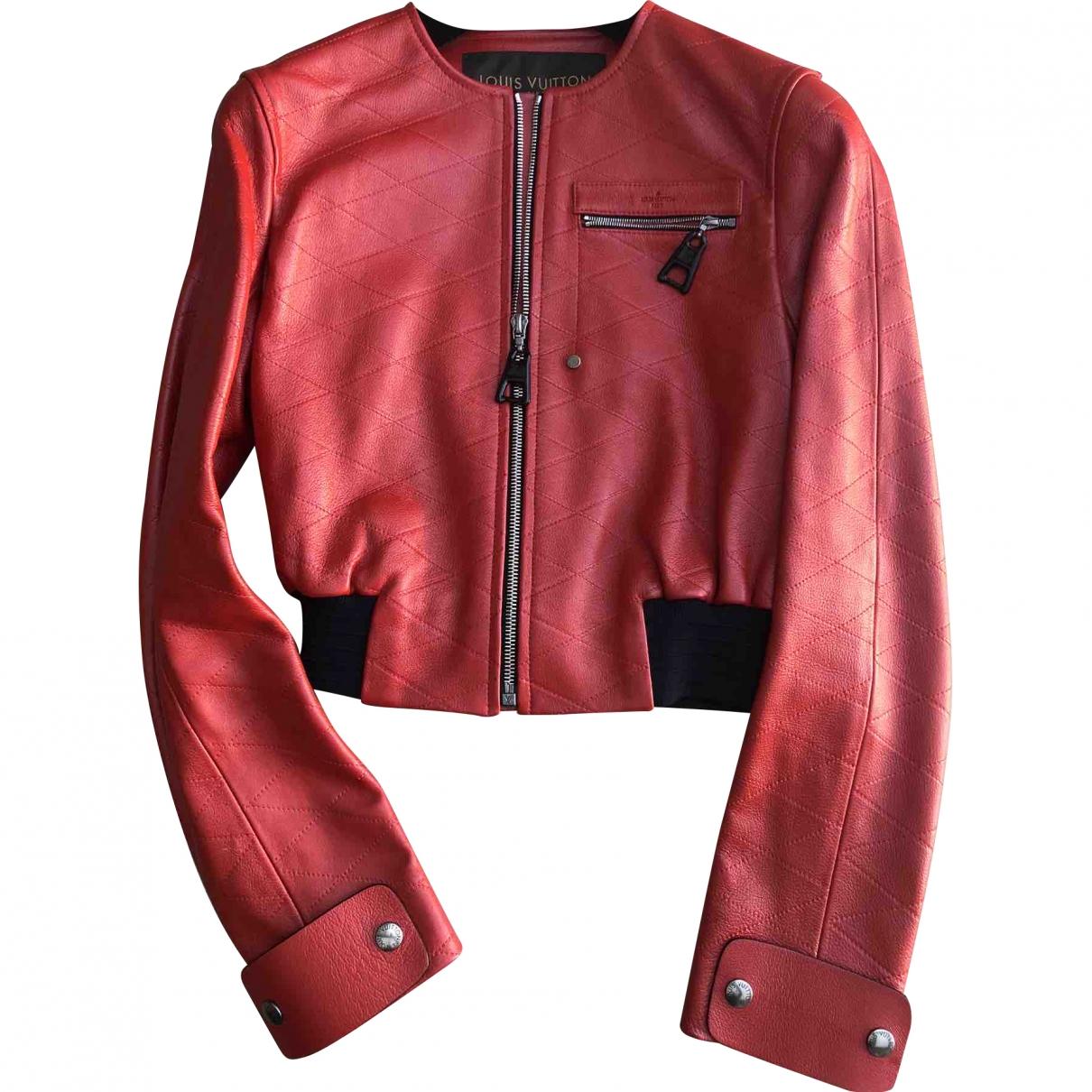 Louis Vuitton \N Lederjacke in  Rot Leder