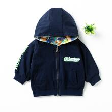 Toddler Boys Letter And Cartoon Print Jacket