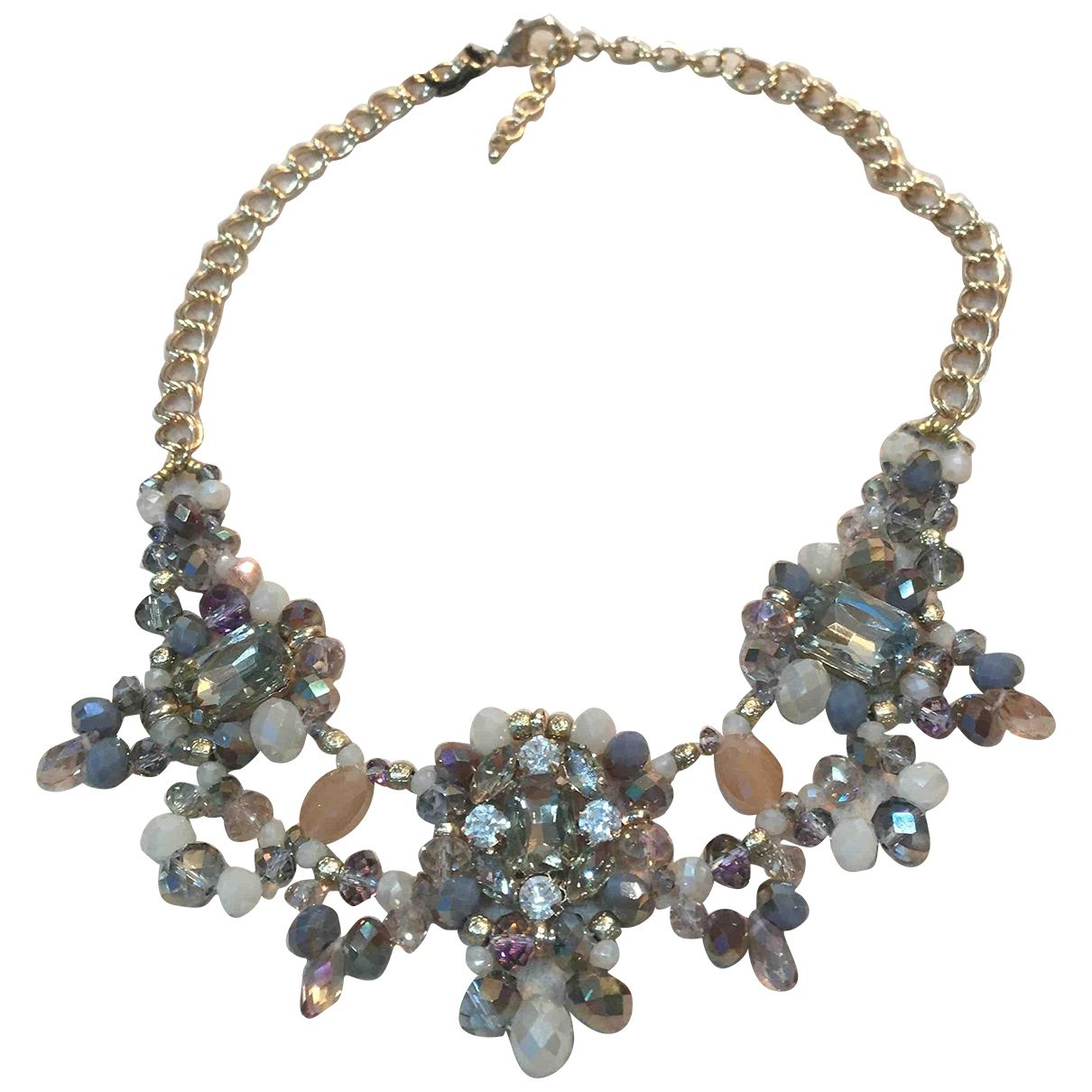 Non Signé / Unsigned \N Gold Crystal necklace for Women \N