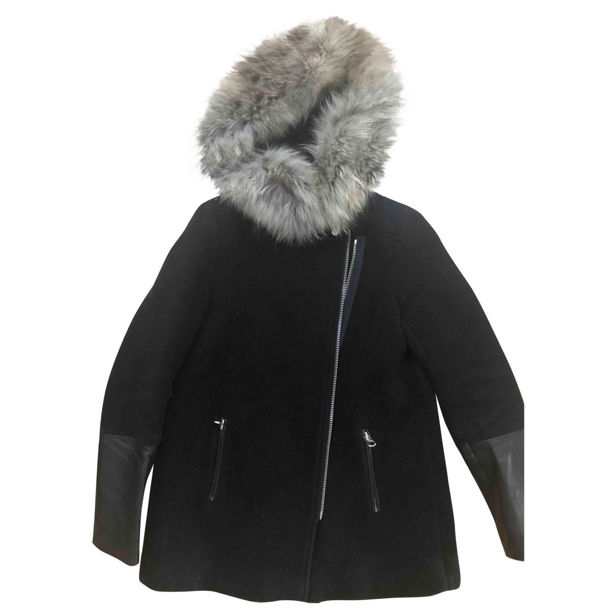 Sandro \N Black Wool coat for Women 36 FR
