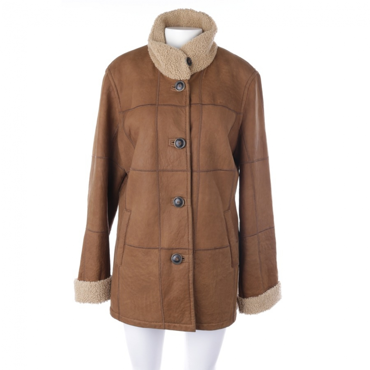 Non Signé / Unsigned \N Brown Shearling jacket for Women 44 FR