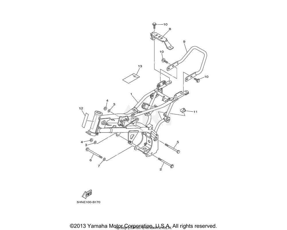 Yamaha OEM 5HN-21391-00-00 BRACKET, SEAT