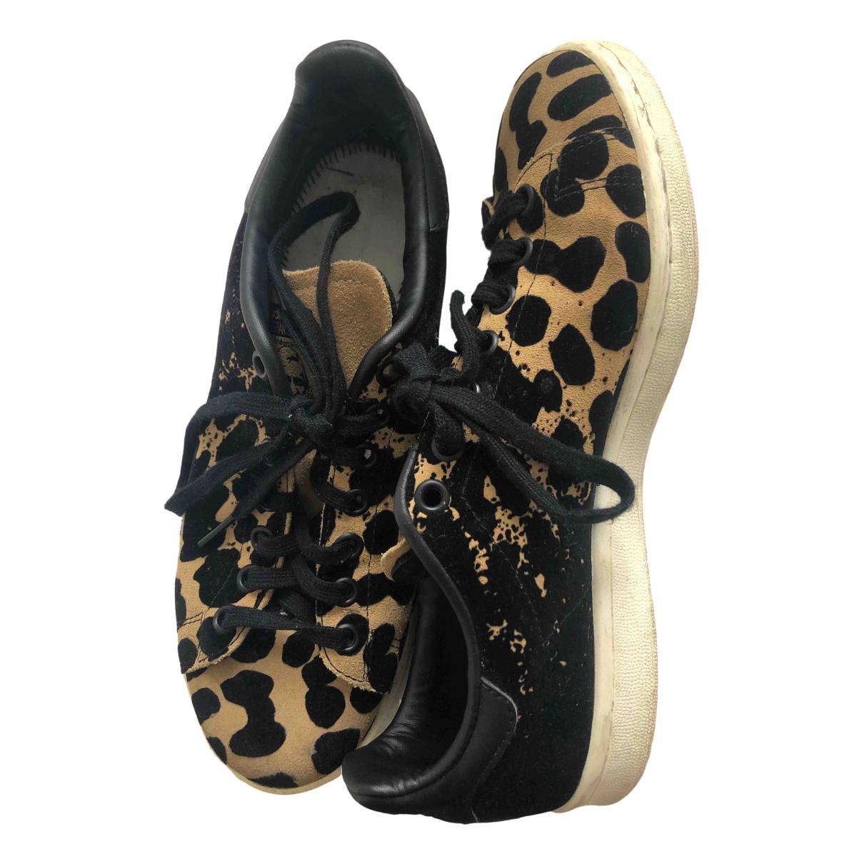 Adidas Stan Smith Sneakers in  Schwarz Veloursleder