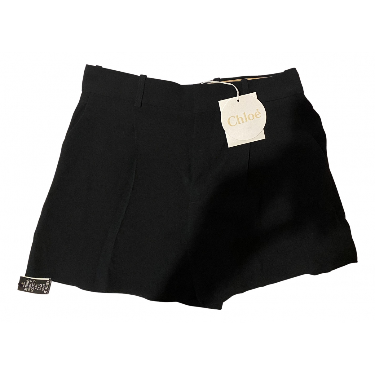 Chloe \N Shorts in  Schwarz Viskose