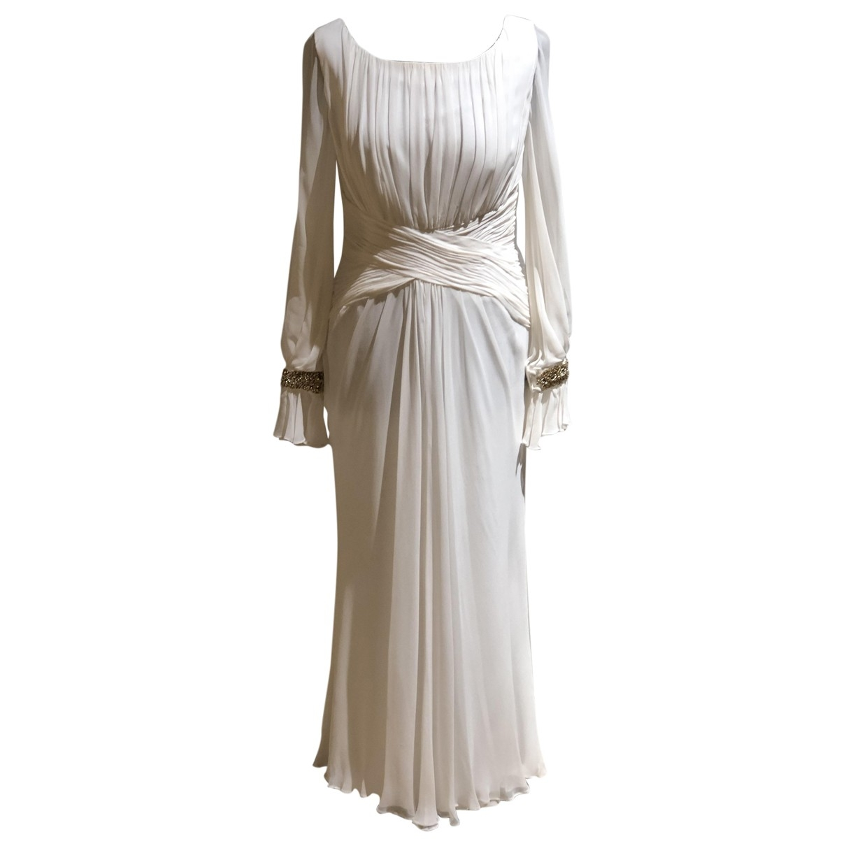 Marchesa Notte \N White Silk dress for Women 8 US
