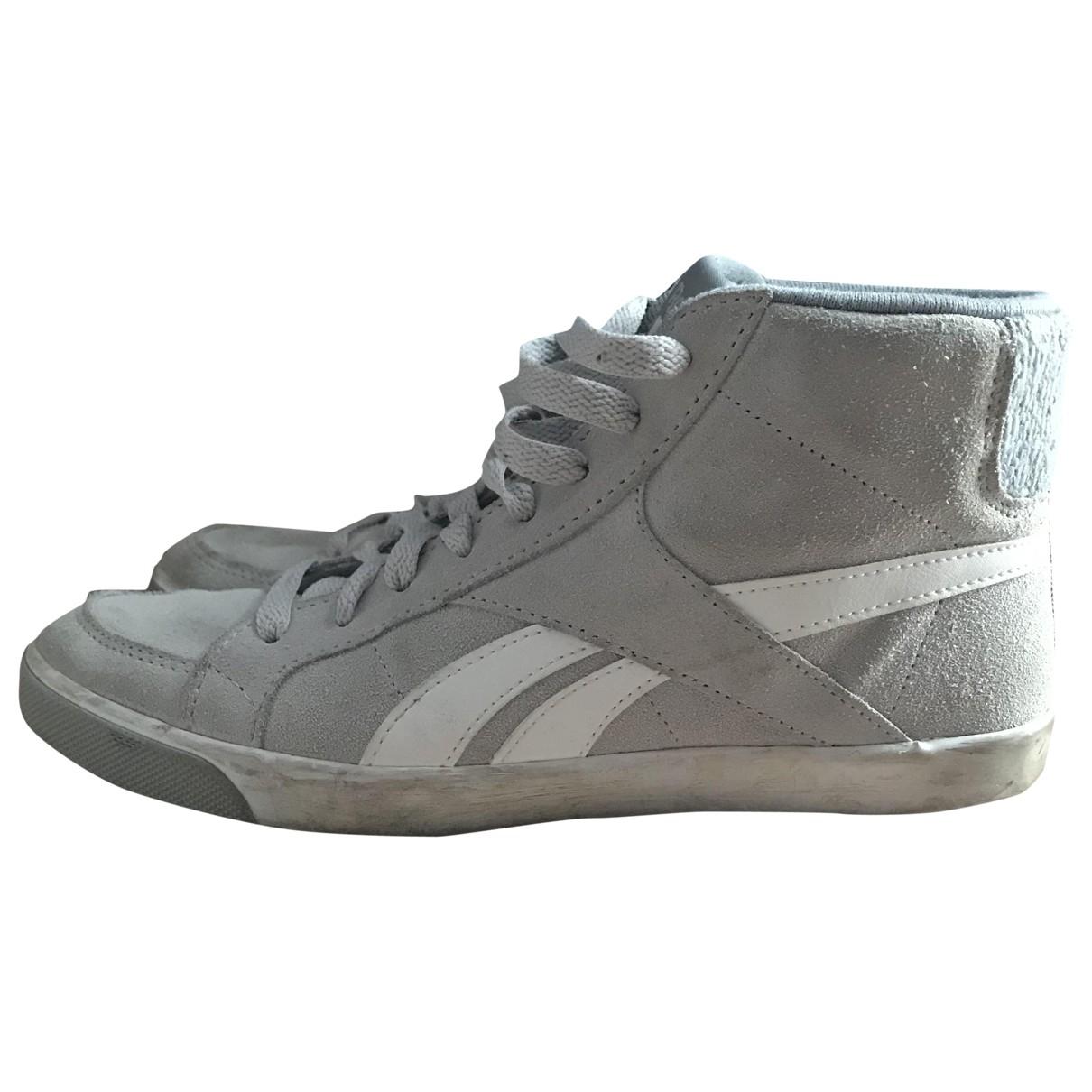 Reebok - Baskets   pour femme en cuir - gris