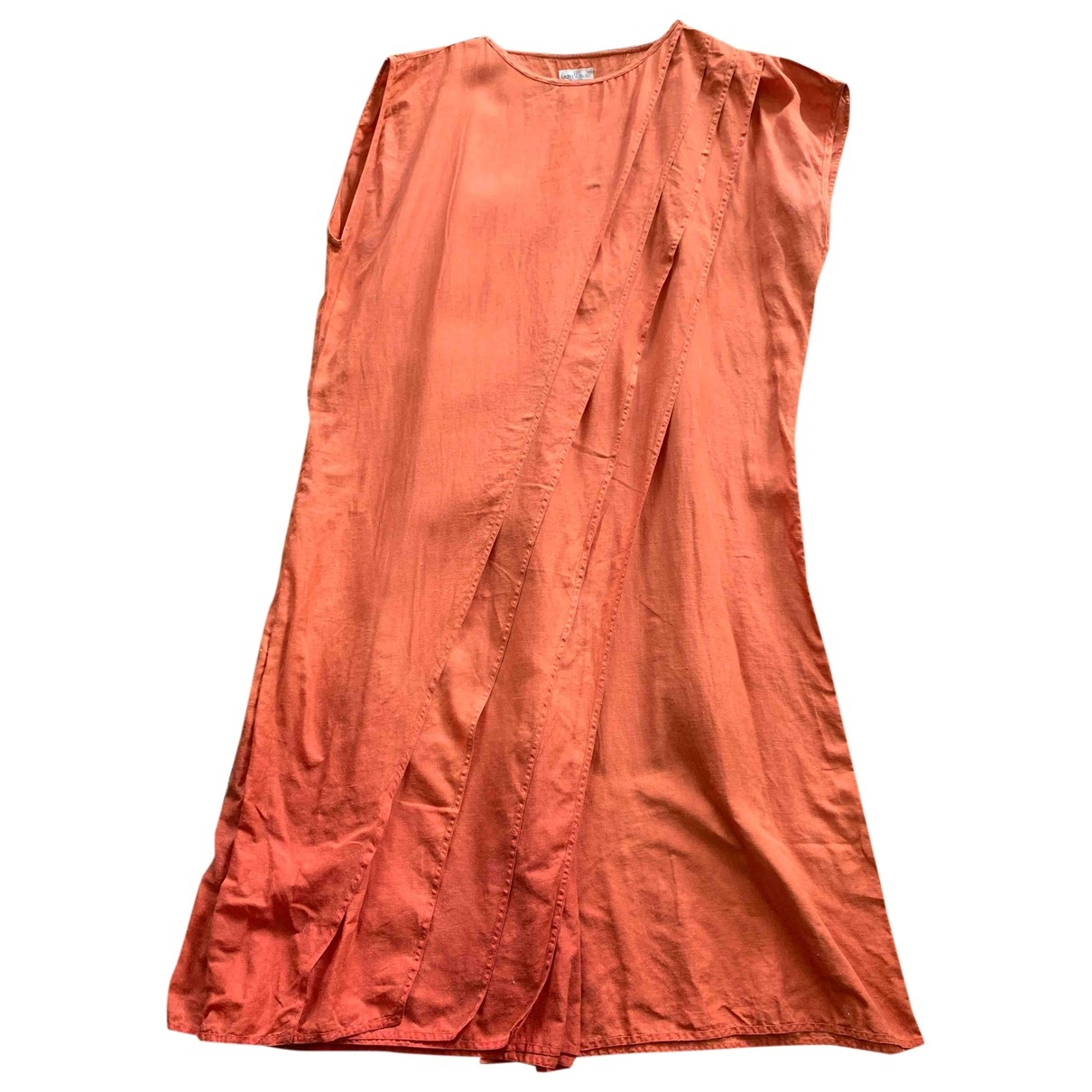 Gianni Versace \N Orange Linen dress for Women 44 IT