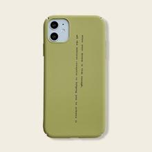 1pc Slogan Graphic iPhone Case