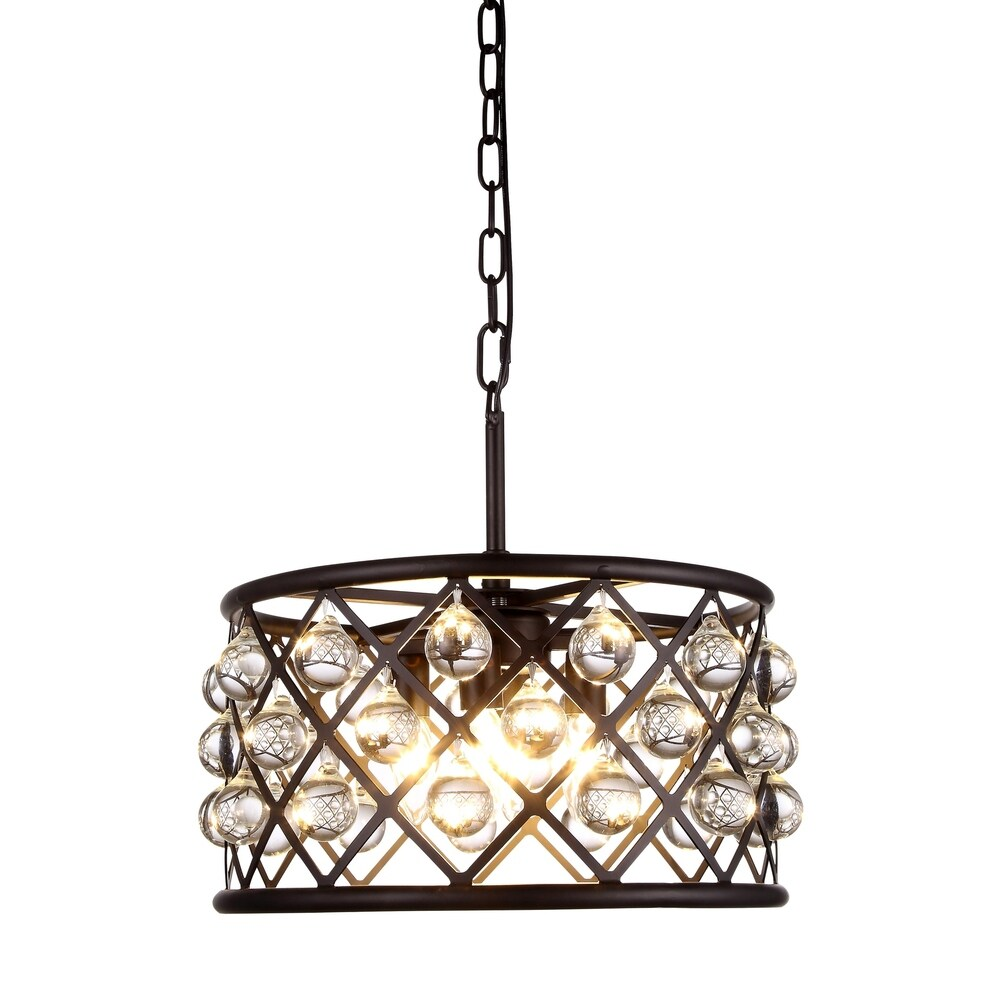 Royce Edge 4-Light Matte Black Pendant - matte black (royal cut clear crystals) (matte black (royal cut clear crystals))