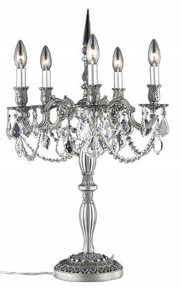 9205TL18PW/EC 9205 Rosalia Collection Table Lamp D18in H28in Lt: 5 Pewter Finish (Elegant Cut