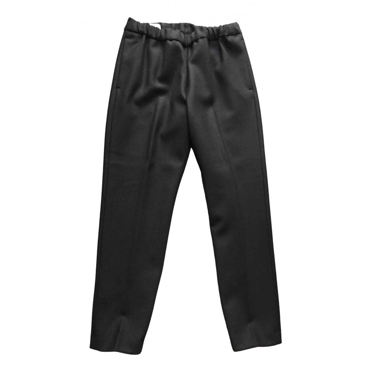 Dries Van Noten - Pantalon   pour femme en laine - noir