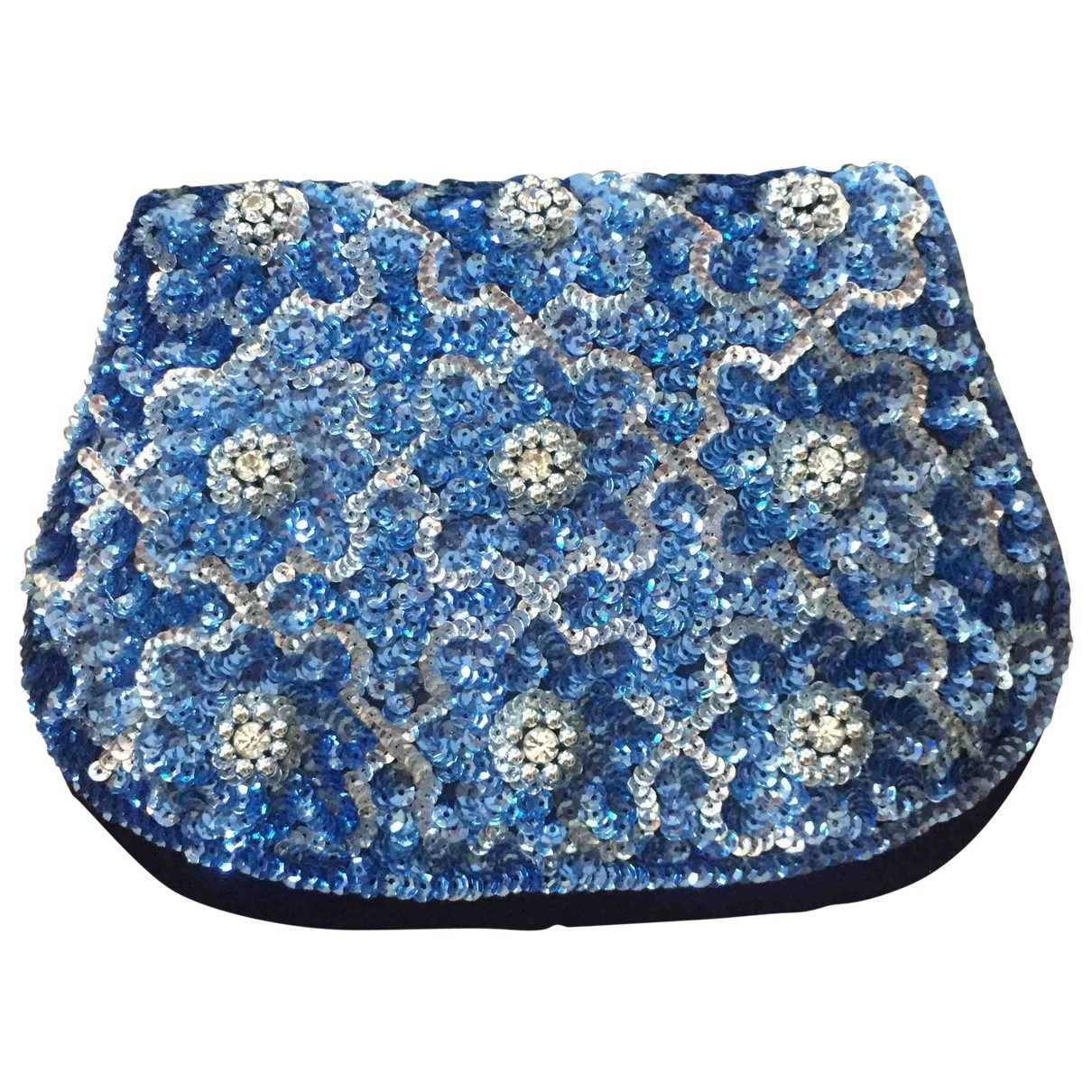Non Signe / Unsigned \N Clutch in  Blau Mit Pailletten