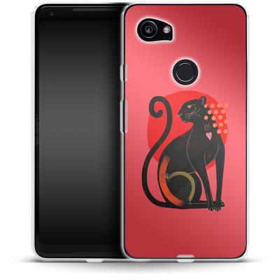 Google Pixel 2 XL Silikon Handyhuelle - Spirit Animal von Victoria Topping