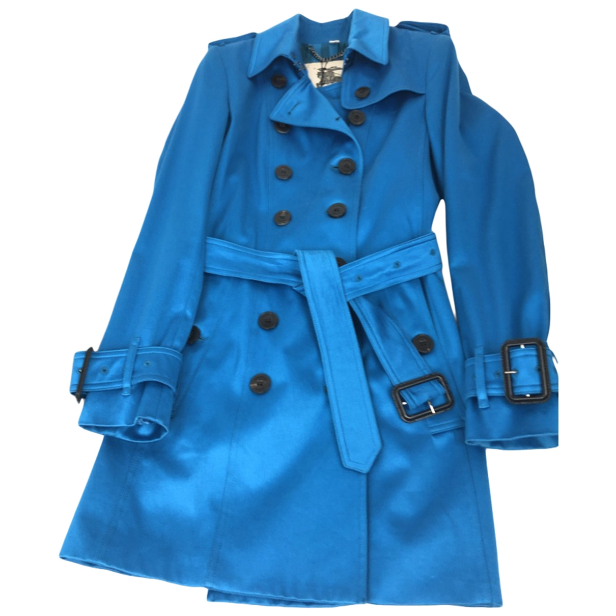 Burberry \N Trench in  Tuerkis Baumwolle