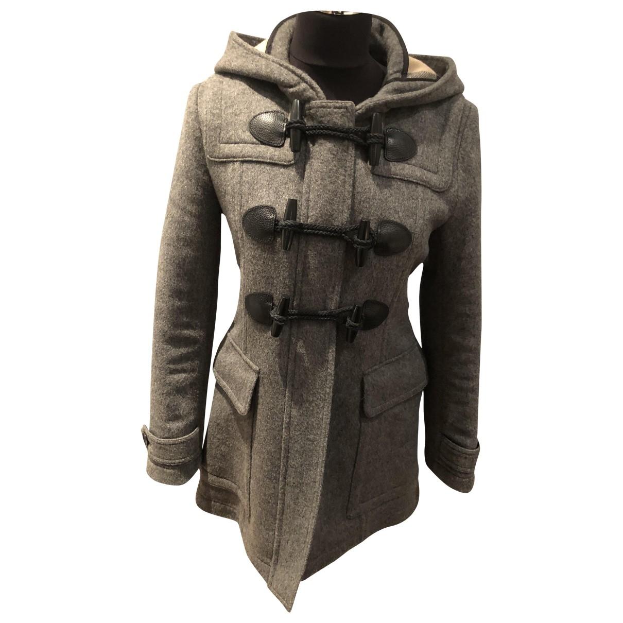 Burberry \N Grey Cotton coat for Women 40 IT
