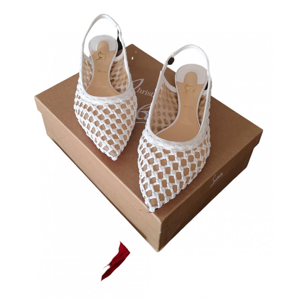 Christian Louboutin \N White Leather Ballet flats for Women 40 EU