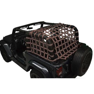 DirtyDog 4x4 Rear Upper Cargo Netting with Regular Sides (Sand) - J2NN07RCSD