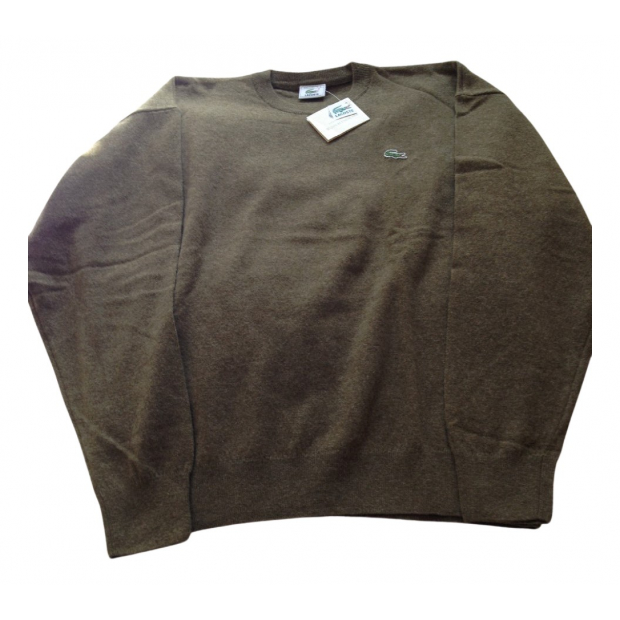 Lacoste \N Pullover.Westen.Sweatshirts  in  Gruen Wolle