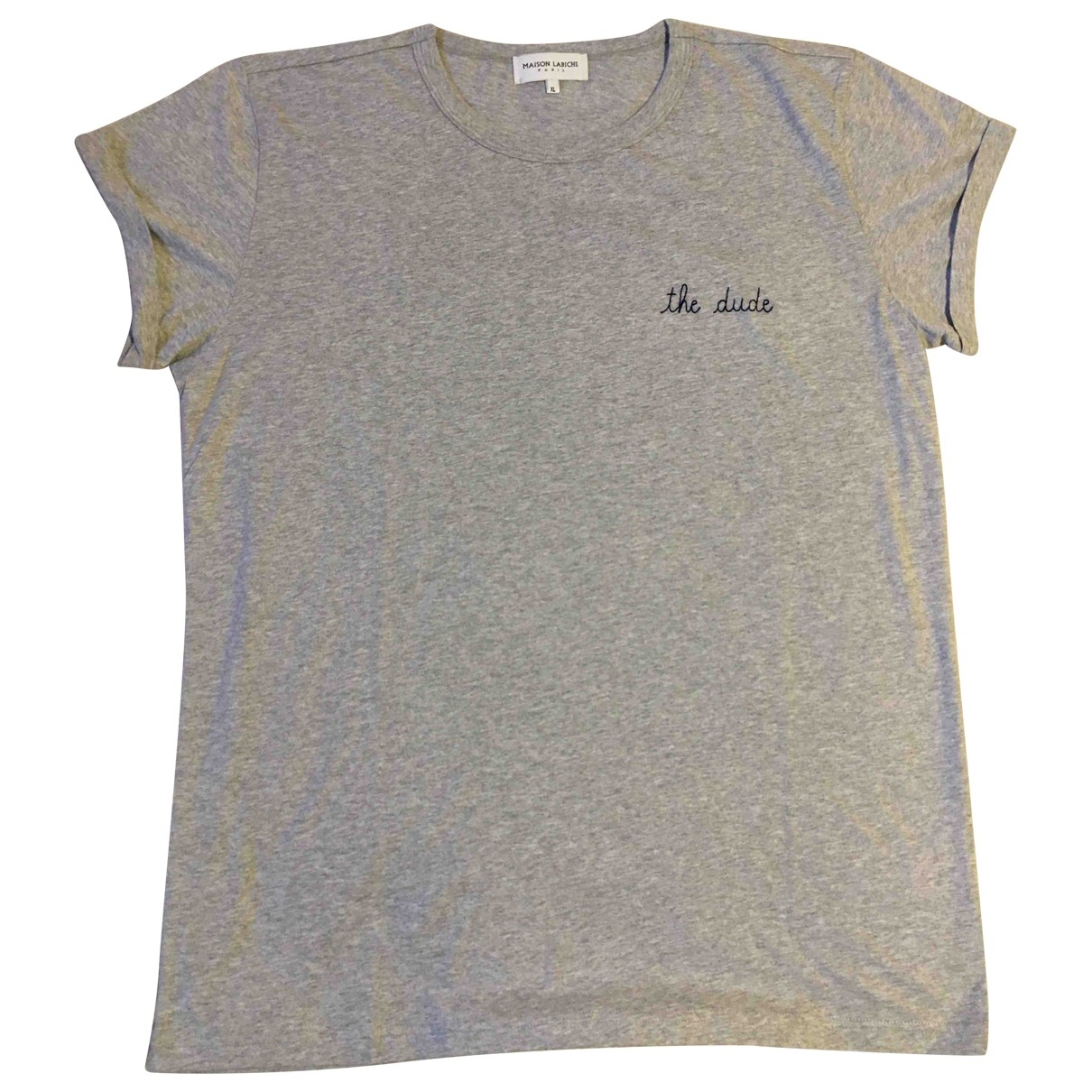 Maison Labiche \N Grey Cotton T-shirts for Men XL International