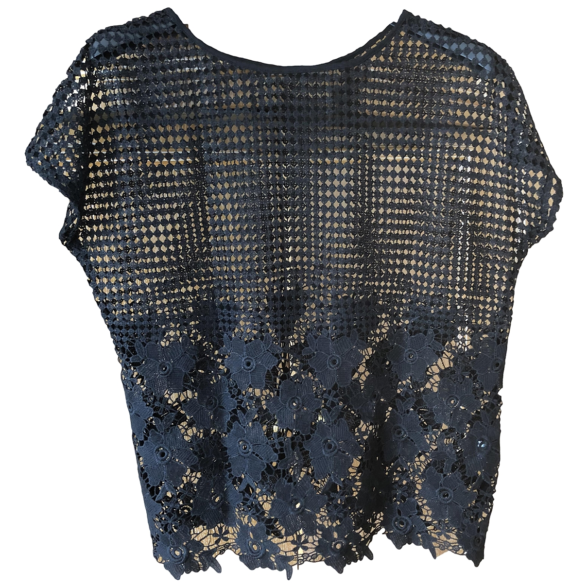 Non Signé / Unsigned \N Black Lace  top for Women M International