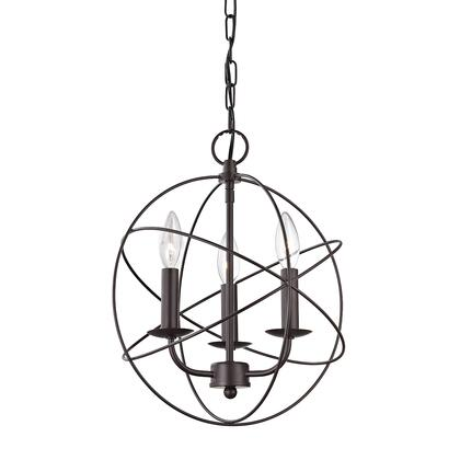 1513Ch/10 Williamsport 3 Light Chandelier In Oiled Rubbed