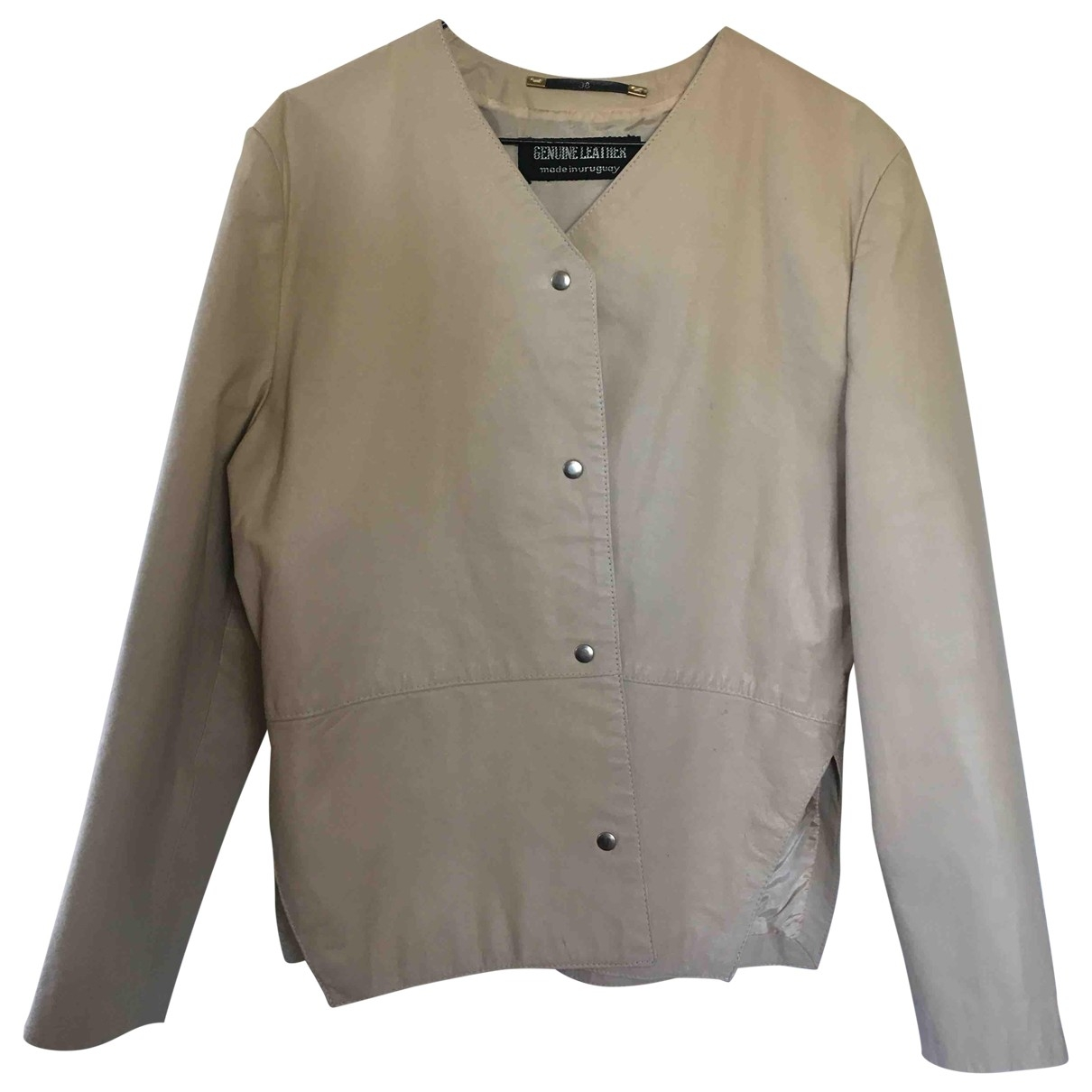 Non Signe / Unsigned \N Top in  Beige Leder