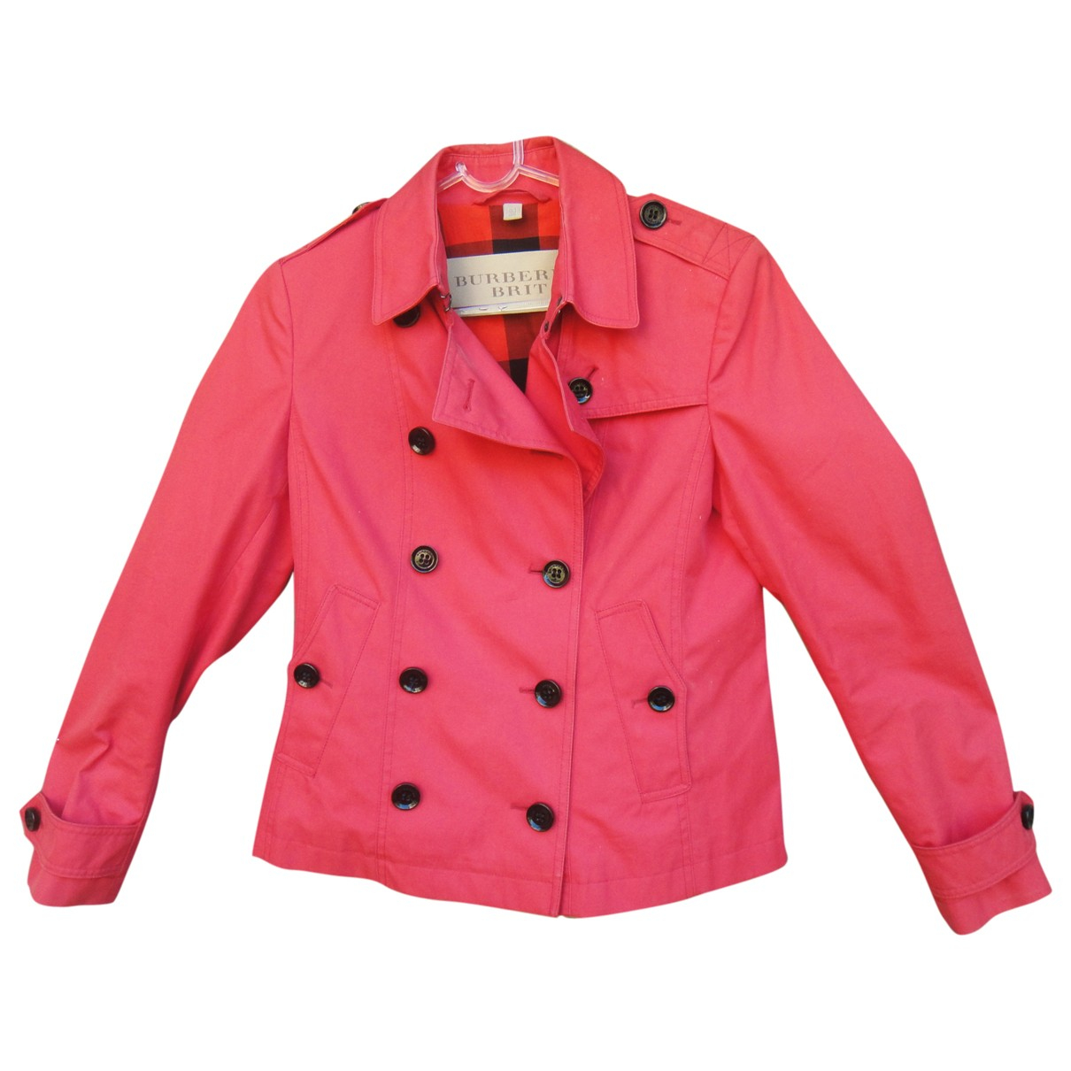 Burberry \N Red Cotton jacket for Women 10 UK