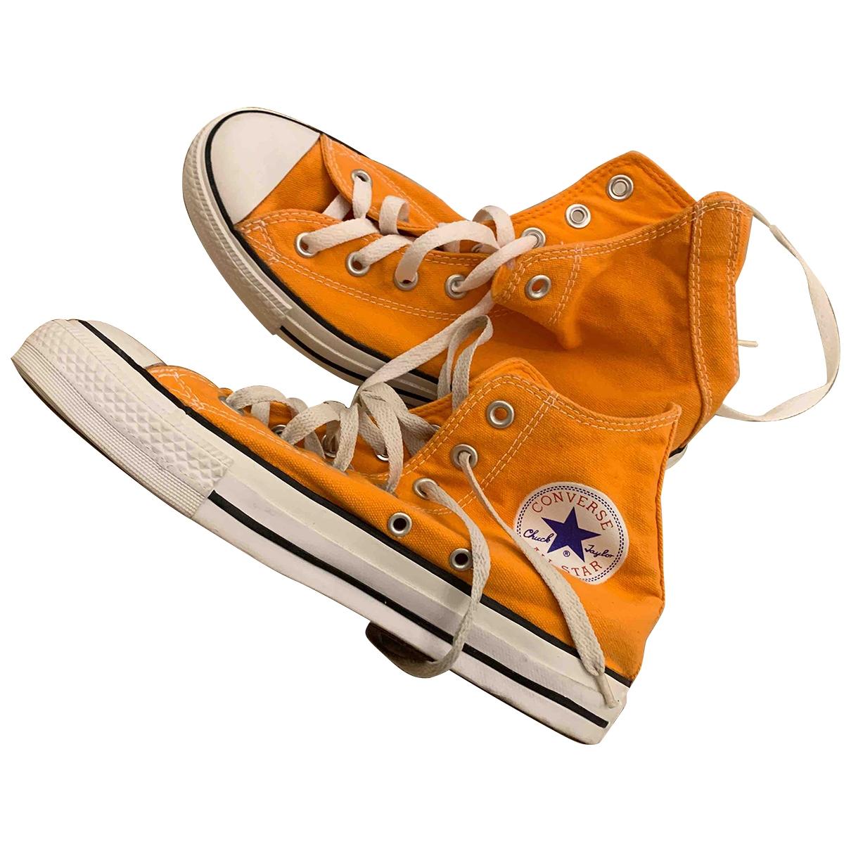 Converse - Baskets   pour femme en toile - orange