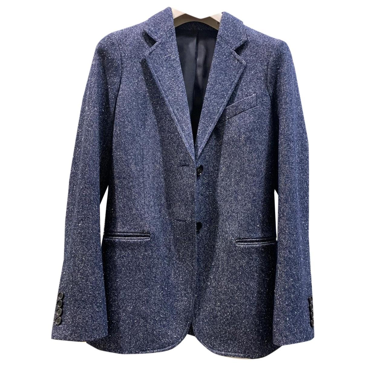 Celine - Veste   pour femme en laine - bleu