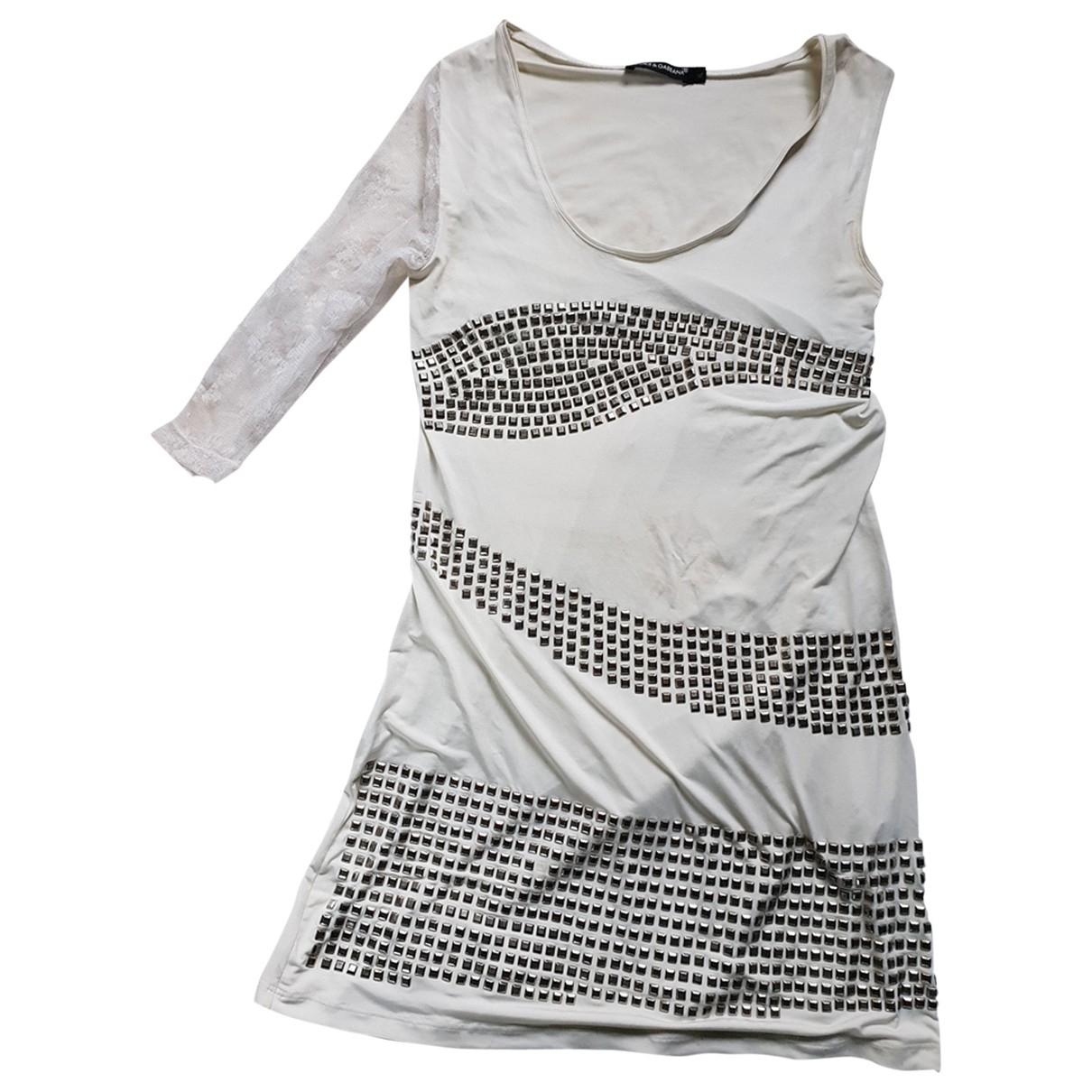 Dolce & Gabbana \N Kleid in  Ecru Polyester