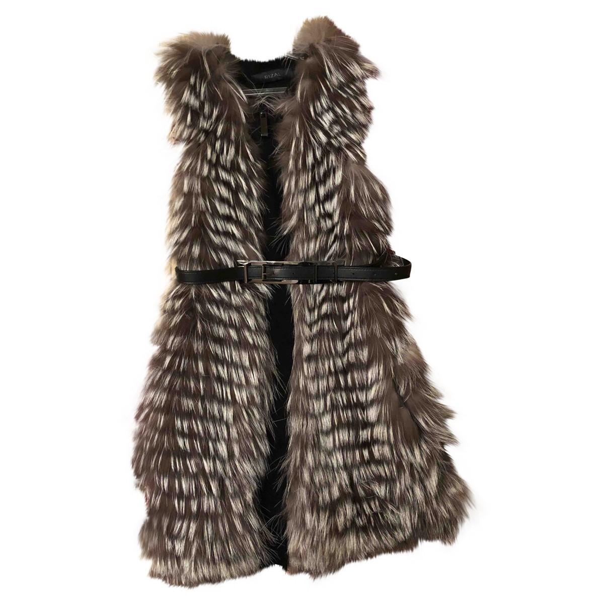 Rizal \N Grey Fur Knitwear for Women 38 IT