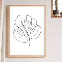 Leaf Print Wall Painting Without Frame
