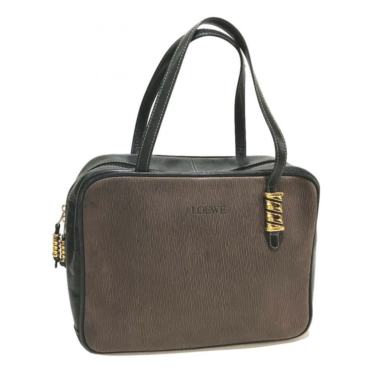 Loewe \N Handtasche in  Braun Leder