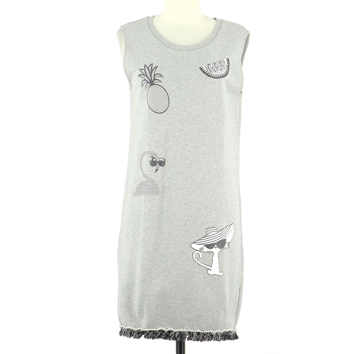 Karl Lagerfeld - Robe   pour femme en coton - gris