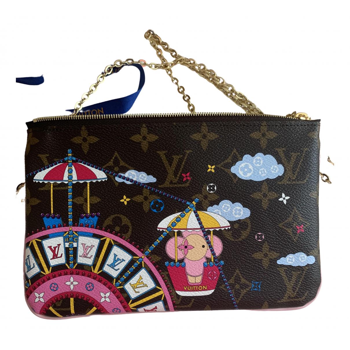 Louis Vuitton Double zip Brown Cloth handbag for Women N