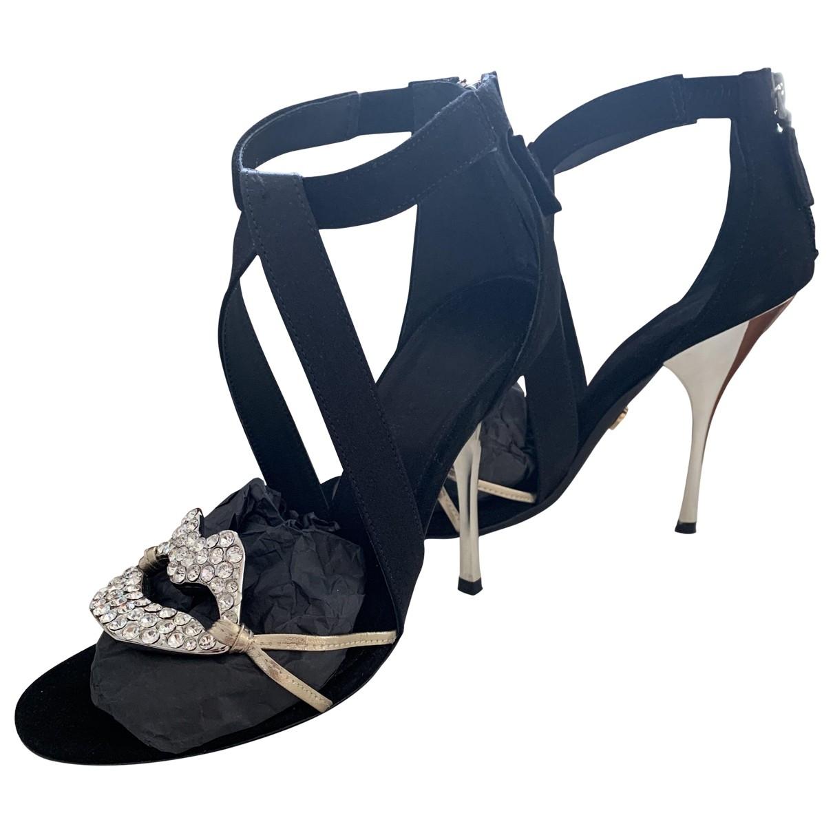 Giambattista Valli X H&m \N Black Leather Heels for Women 38 EU