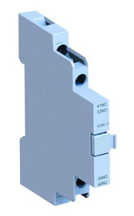 WEG Auxiliary Contact Block - NO/NC, 2 Contact, Side Mount, 10 A