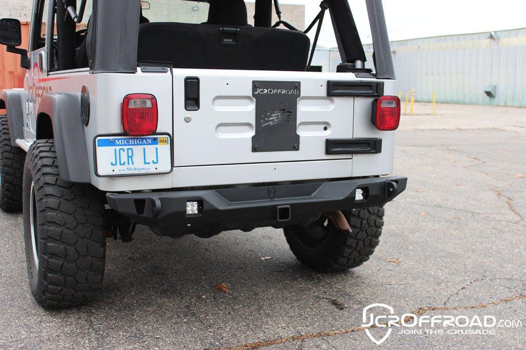 Wrangler Rear Bumper Mid Width Crusader TJ / LJ / YJ / CJ7 76-06 Powder Coat JCR Offroad SWBRC2-PC