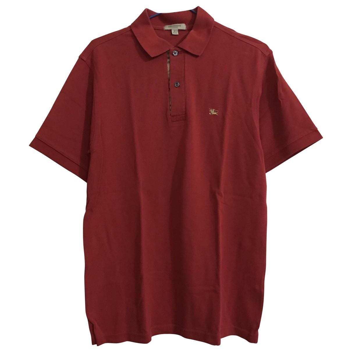 Polo en Algodon Rojo Burberry