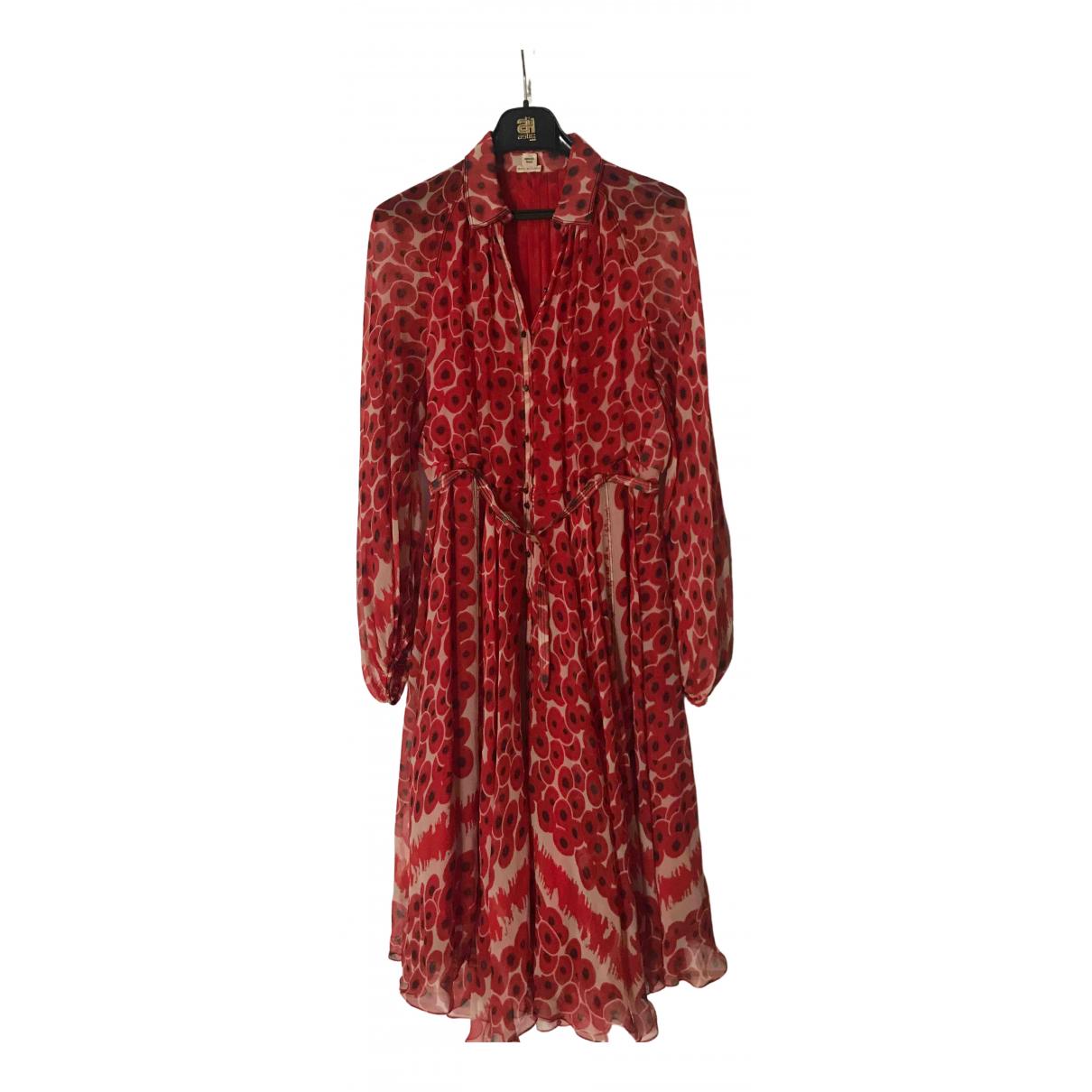 Vestido midi de Seda Hermes