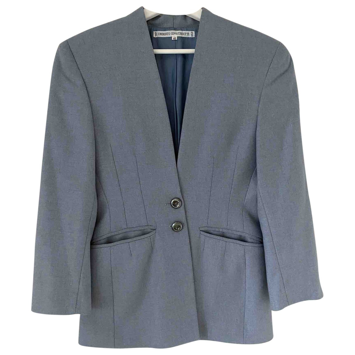 Non Signé / Unsigned \N Grey Wool jacket for Women 40 IT