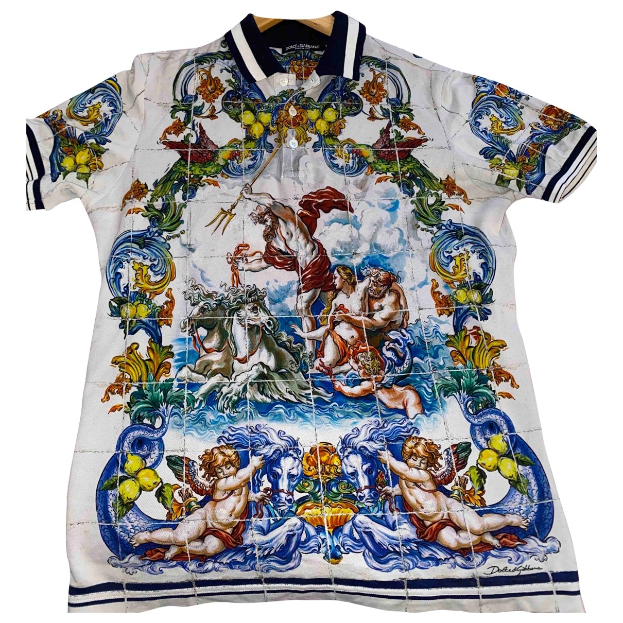Polo en Algodon Multicolor Dolce & Gabbana