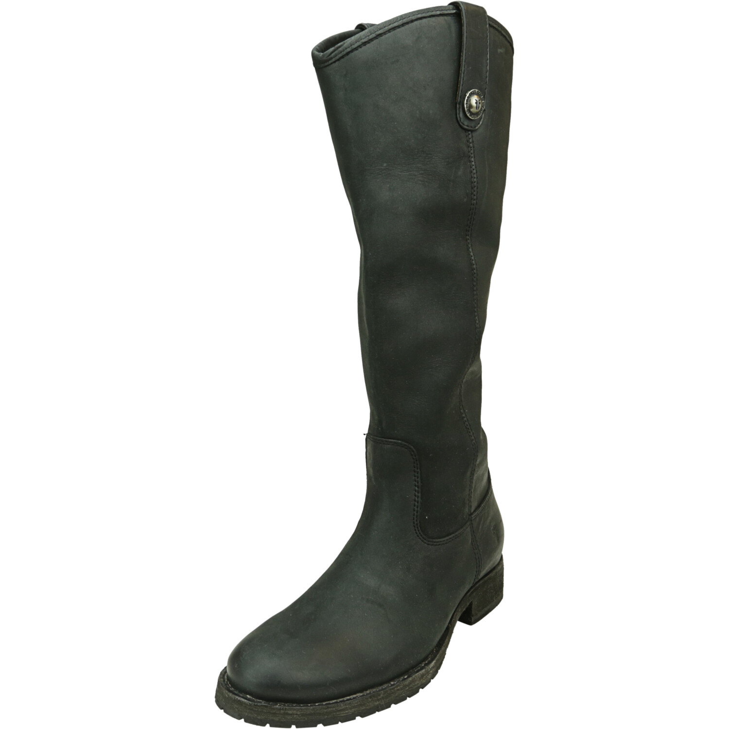 Frye Women's Mellissa Button Black Knee-High Leather Boot - 6M