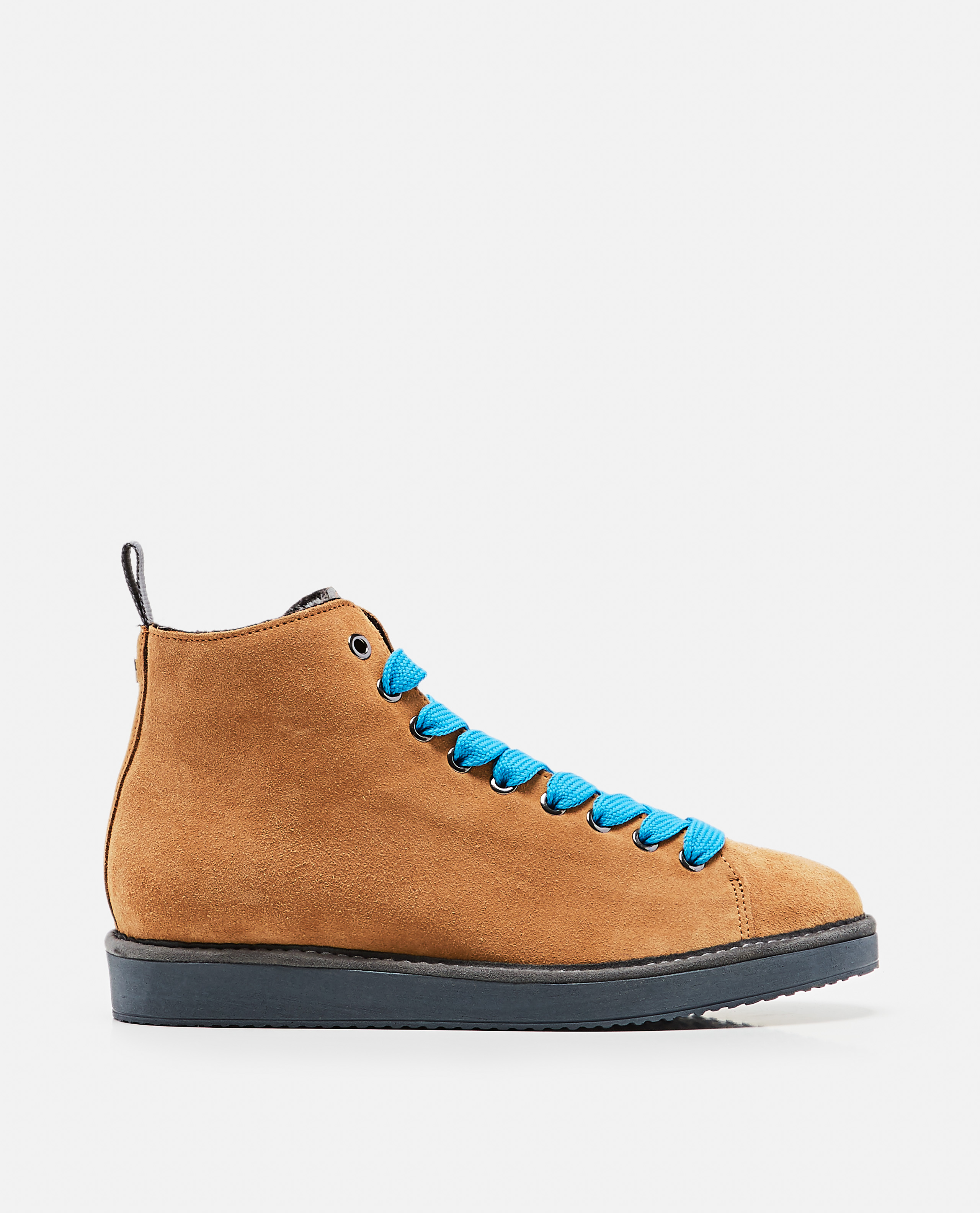 Lace-up ankle boot in suede